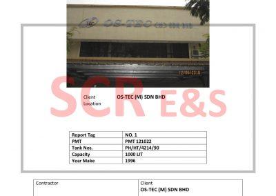 REPORT 2018-11 OS Tec (M) Sdn Bhd