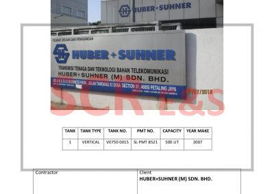 REPORT 2018-13 HUBER+SUHNER (M) SDN. BHD.